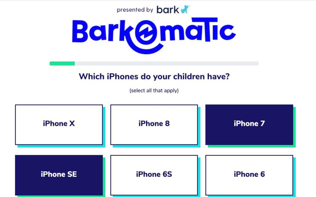 Bark-o-matic Cell Phone Choices